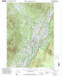 Download a high-resolution, GPS-compatible USGS topo map for Manchester, VT (2000 edition)