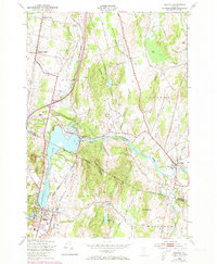 Download a high-resolution, GPS-compatible USGS topo map for Milton, VT (1973 edition)
