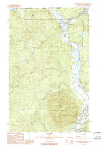 Download a high-resolution, GPS-compatible USGS topo map for Monadnock Mountain, VT (1989 edition)