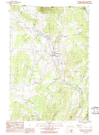 Download a high-resolution, GPS-compatible USGS topo map for Newport Center, VT (1986 edition)
