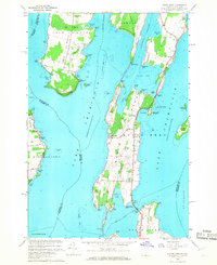 Download a high-resolution, GPS-compatible USGS topo map for North Hero, VT (1968 edition)