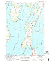 Download a high-resolution, GPS-compatible USGS topo map for North Hero, VT (1976 edition)