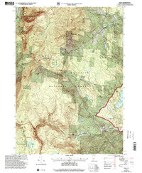 Download a high-resolution, GPS-compatible USGS topo map for Peru, VT (2000 edition)