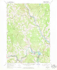 Download a high-resolution, GPS-compatible USGS topo map for Quechee, VT (1971 edition)