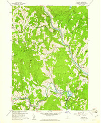 Download a high-resolution, GPS-compatible USGS topo map for Quechee, VT (1961 edition)