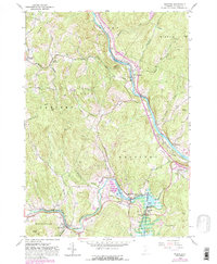 Download a high-resolution, GPS-compatible USGS topo map for Quechee, VT (1988 edition)