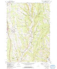 Download a high-resolution, GPS-compatible USGS topo map for Randolph Center, VT (1991 edition)