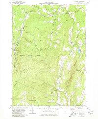 Download a high-resolution, GPS-compatible USGS topo map for Roxbury, VT (1981 edition)