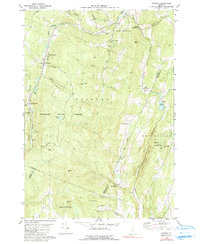 Download a high-resolution, GPS-compatible USGS topo map for Roxbury, VT (1991 edition)