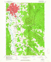 Download a high-resolution, GPS-compatible USGS topo map for Rutland, VT (1964 edition)