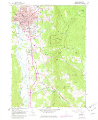 Download a high-resolution, GPS-compatible USGS topo map for Rutland, VT (1981 edition)