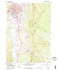 Download a high-resolution, GPS-compatible USGS topo map for Rutland, VT (1988 edition)