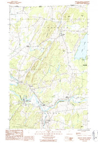 Download a high-resolution, GPS-compatible USGS topo map for Sheldon Springs, VT (1987 edition)
