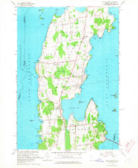 Download a high-resolution, GPS-compatible USGS topo map for South Hero, VT (1968 edition)