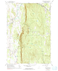 Download a high-resolution, GPS-compatible USGS topo map for South Mountain, VT (1991 edition)