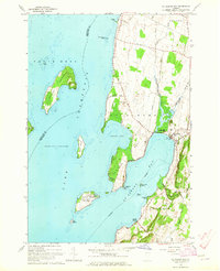 Download a high-resolution, GPS-compatible USGS topo map for St Albans Bay, VT (1965 edition)