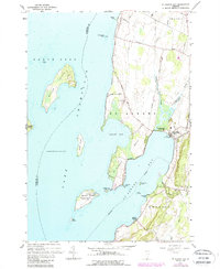 Download a high-resolution, GPS-compatible USGS topo map for St Albans Bay, VT (1987 edition)