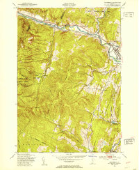 Download a high-resolution, GPS-compatible USGS topo map for Waterbury, VT (1953 edition)