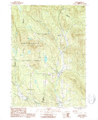 Download a high-resolution, GPS-compatible USGS topo map for Weston, VT (1987 edition)
