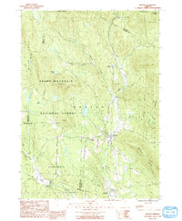 Download a high-resolution, GPS-compatible USGS topo map for Weston, VT (1991 edition)
