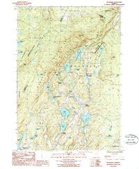 Download a high-resolution, GPS-compatible USGS topo map for Woodbury, VT (1987 edition)