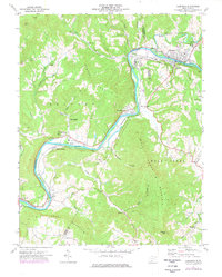 Download a high-resolution, GPS-compatible USGS topo map for Alderson, WV (1977 edition)