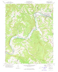 Download a high-resolution, GPS-compatible USGS topo map for Alderson, WV (1974 edition)