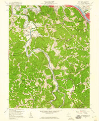 Download a high-resolution, GPS-compatible USGS topo map for Alum Creek, WV (1960 edition)