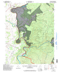 Download a high-resolution, GPS-compatible USGS topo map for Anthony, WV (1998 edition)