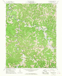 Download a high-resolution, GPS-compatible USGS topo map for Arnoldsburg, WV (1967 edition)