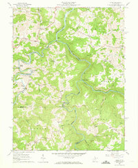 Download a high-resolution, GPS-compatible USGS topo map for Audra, WV (1973 edition)