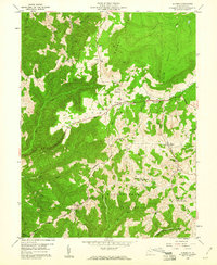 Download a high-resolution, GPS-compatible USGS topo map for Aurora, WV (1960 edition)