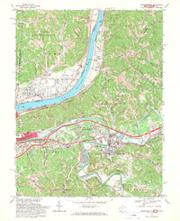 Download a high-resolution, GPS-compatible USGS topo map for Barboursville, WV (1970 edition)