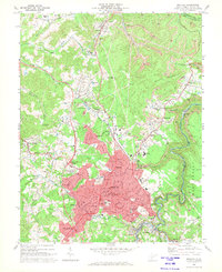 Download a high-resolution, GPS-compatible USGS topo map for Beckley, WV (1973 edition)
