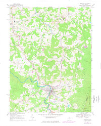 Download a high-resolution, GPS-compatible USGS topo map for Belington, WV (1977 edition)