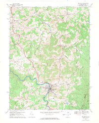 Download a high-resolution, GPS-compatible USGS topo map for Belington, WV (1971 edition)