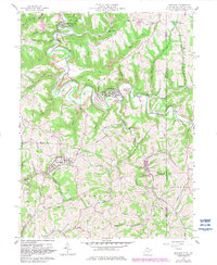 Download a high-resolution, GPS-compatible USGS topo map for Bethany, WV (1982 edition)