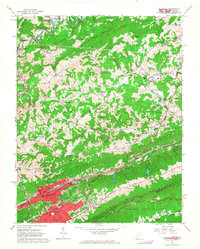 Download a high-resolution, GPS-compatible USGS topo map for Bluefield, WV (1964 edition)
