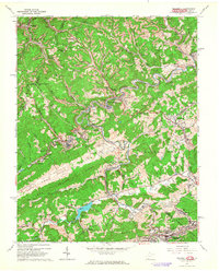 Download a high-resolution, GPS-compatible USGS topo map for Bramwell, WV (1964 edition)