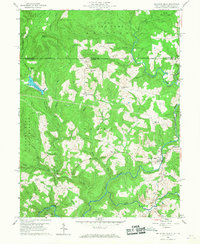 Download a high-resolution, GPS-compatible USGS topo map for Bruceton Mills, WV (1968 edition)