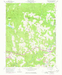 Download a high-resolution, GPS-compatible USGS topo map for Bruceton Mills, WV (1978 edition)