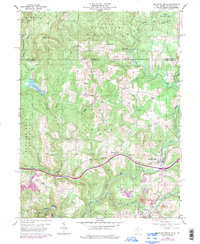 Download a high-resolution, GPS-compatible USGS topo map for Bruceton Mills, WV (1998 edition)