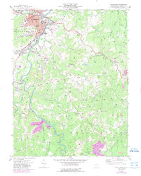 Download a high-resolution, GPS-compatible USGS topo map for Buckhannon, WV (1989 edition)