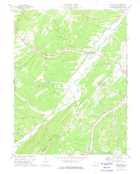 Download a high-resolution, GPS-compatible USGS topo map for Burlington, WV (1975 edition)