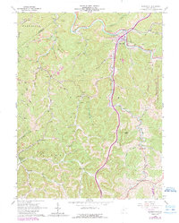 Download a high-resolution, GPS-compatible USGS topo map for Burnsville, WV (1989 edition)