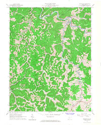 Download a high-resolution, GPS-compatible USGS topo map for Burnsville, WV (1968 edition)
