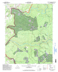 Download a high-resolution, GPS-compatible USGS topo map for Camden on Gauley, WV (1998 edition)