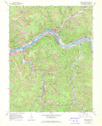 Download a high-resolution, GPS-compatible USGS topo map for Cedar Grove, WV (1972 edition)