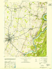 Download a high-resolution, GPS-compatible USGS topo map for Charles Town, WV (1953 edition)