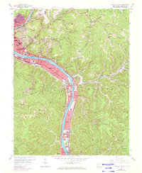 Download a high-resolution, GPS-compatible USGS topo map for Charleston East, WV (1973 edition)